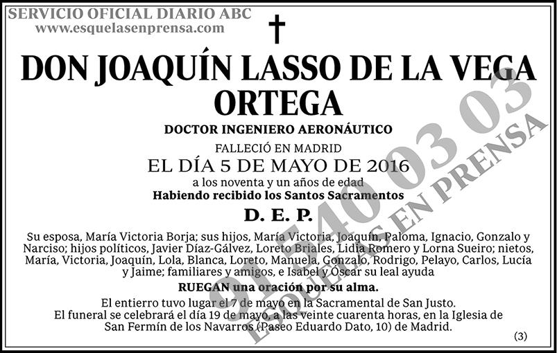 Joaquín Lasso de la Vega Ortega